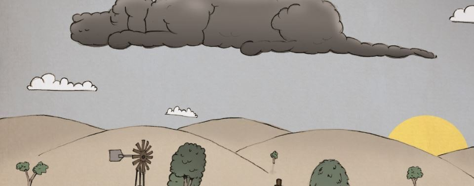 Black Dog cloud drawing